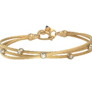 Triple Cable Bracelet with Diamond C3-029