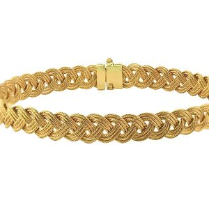 Braid Bracelet in 14K Yellow Gold B3-022