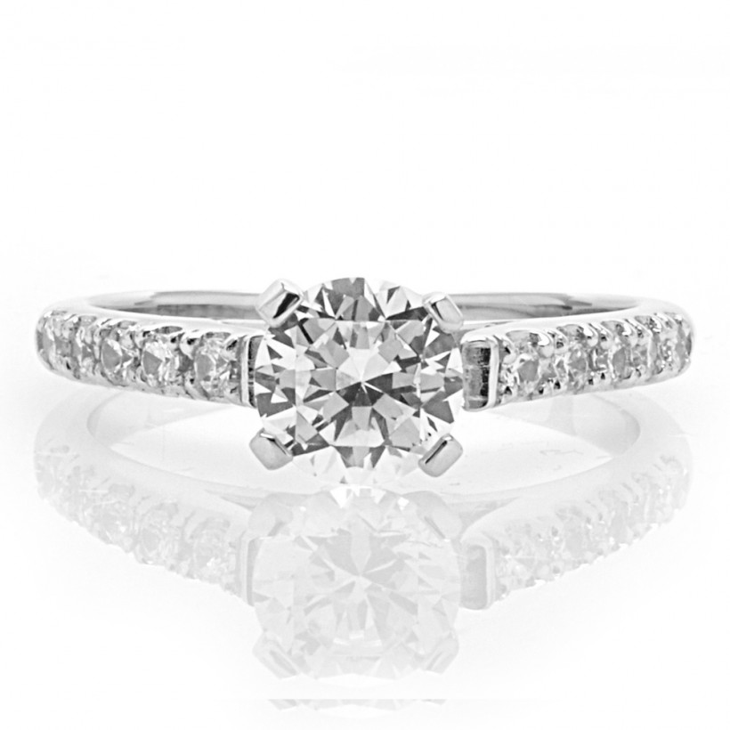 Center Solitaire with Accent Stones - 8430
