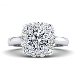 1 ct Center Halo Style with Accent Stones - 8528_1