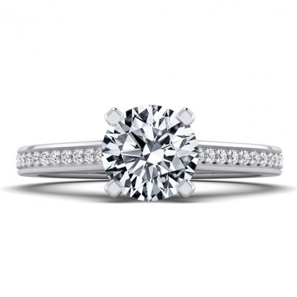 1ct Center Solitaire Style with Accent Stones - 8776