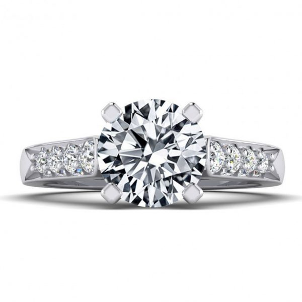 1ct Center Solitaire Style with Accent Stones - 8780-1