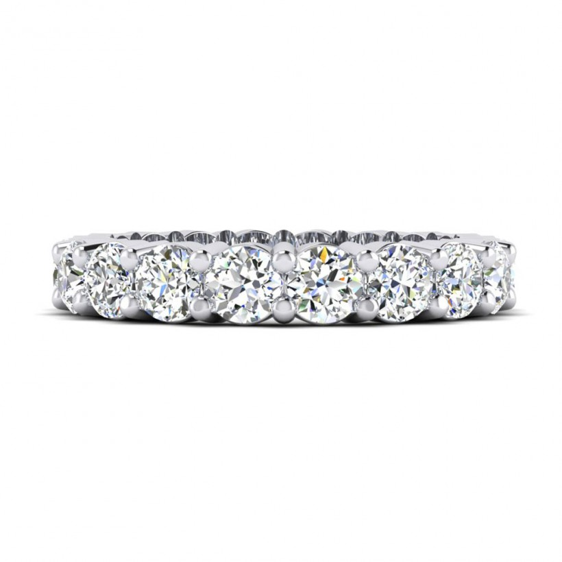 Shared Prong Eternity Wedding Band - 8875
