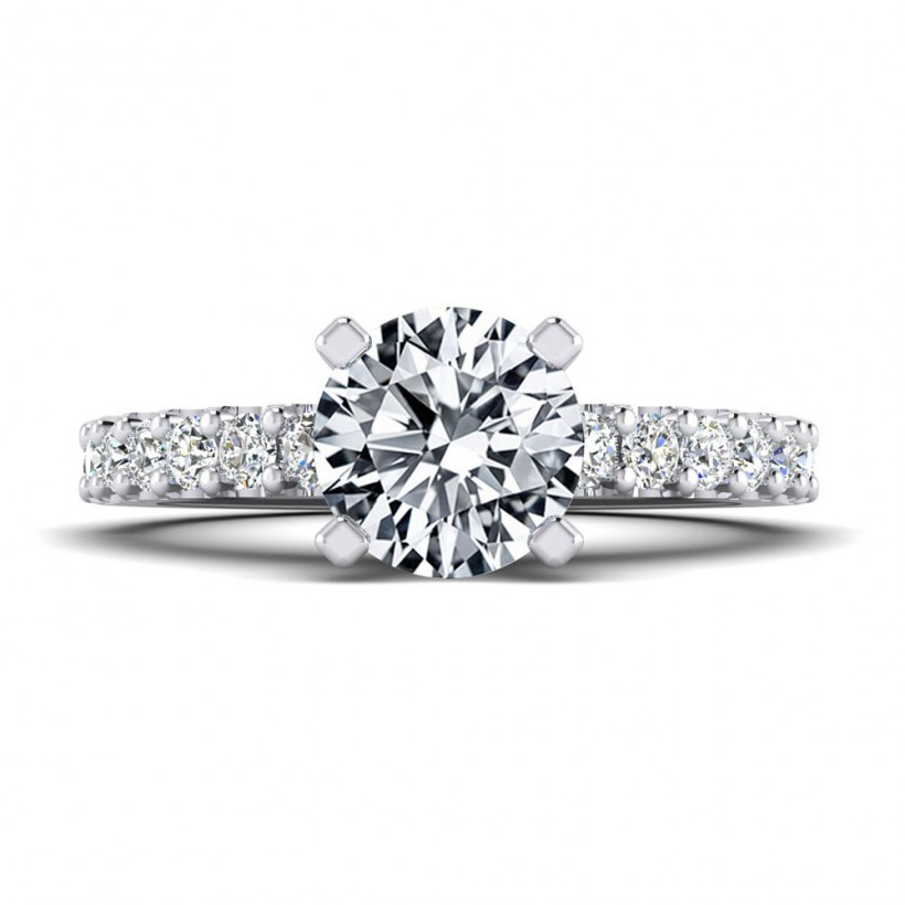 1ct Center Solitaire Style with Accent Stones - 8884