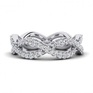 Shared Prong, Straight Wedding Band - 8969