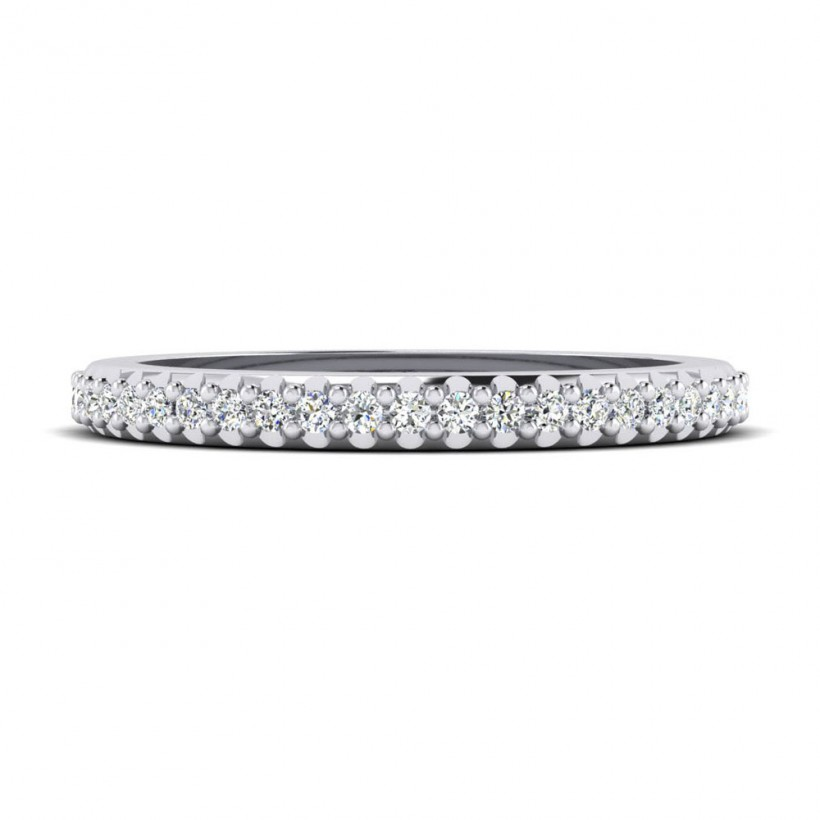 Shared Prong, Straight Wedding Band - 9067