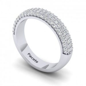 Shared Prong, Multi-row Wedding Band - 9181