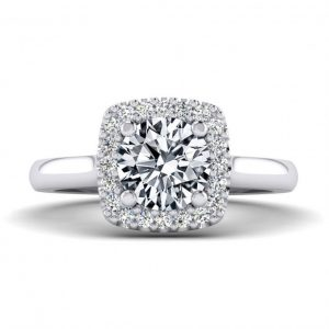 1ct Center Halo Style with Accent Stones - 9218
