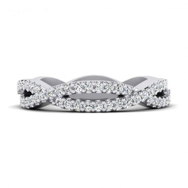 Shared Prong, Straight Wedding Band - 9225