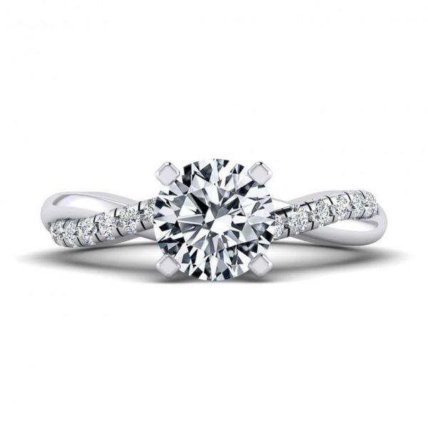1ct Center Solitaire Style with Accent Stones - 9234