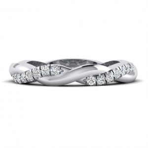 Shared Prong, Straight Wedding Band - 9235