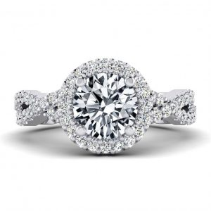 1ct Center Halo Style with Accent Stones - 9260