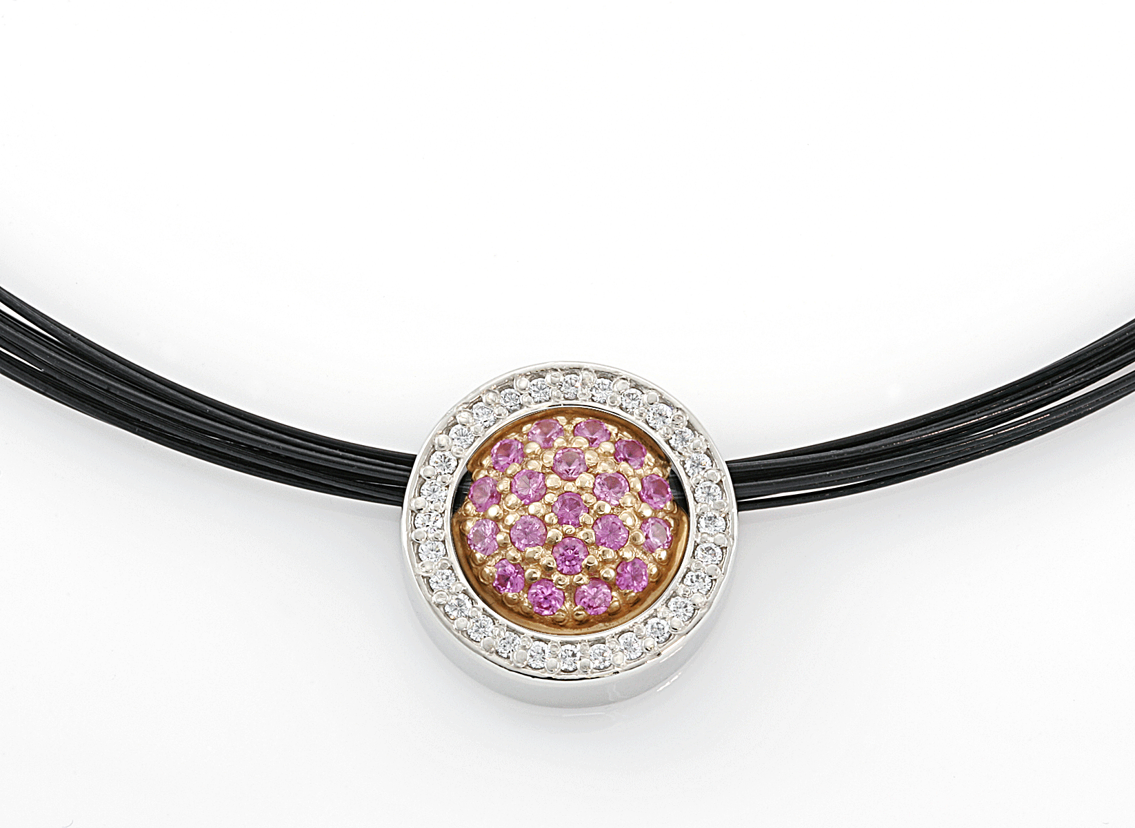 Diamond Circle Two Piece Pendant by the Touch