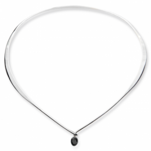 Ed Levin Adore Silver Collar with Gemstone