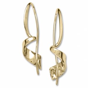 Ed Levin Corkscrew Gold Earrings