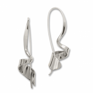 Ed Levin Corkscrew Sterling Earrings