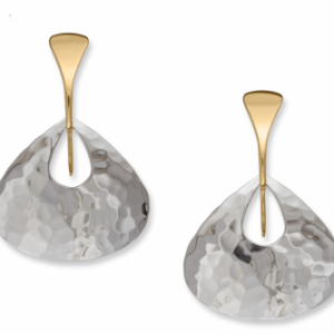 Ed Levin Jamaica Silver Gold Earrings