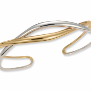 Ed Levin Tendril Cuff Sterling and Gold