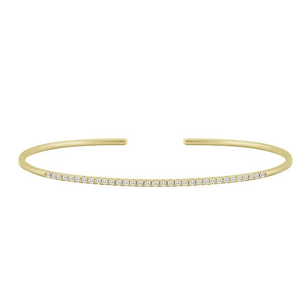 Meira T Yellow Gold Cuff Diamond Bracelet