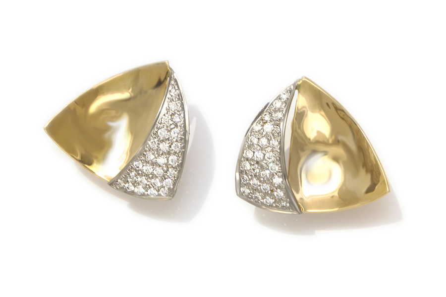 Neil Terkelsen Sailboat Diamond Pave Earrings