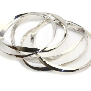 Neil Terkelsen Sterling Bangle Bracelets