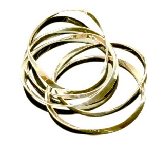 Neil Terkelsen Sterling Bangle Bracelets in 14kt Gold
