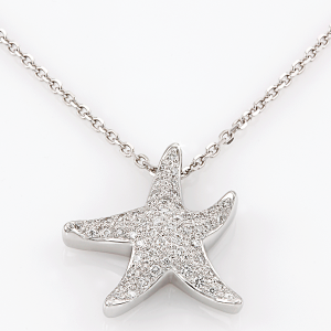 Pave Diamond Starfish Pendant