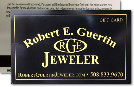 Robert E Guertin Jeweler Gift Cards