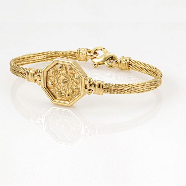 The Touch Sailors Valentine Gold Cable Bracelet with Infinity Clasp