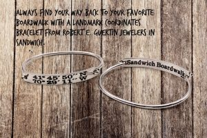 Sandwich Boardwalk Landmark Coordinates Bracelet