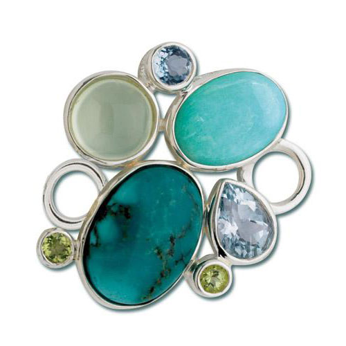 Lestage Turquoise Rock Garden Clasp