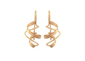 The Touch Fashion Collection Small Twister Earrings