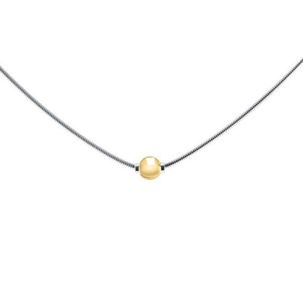 SS Cape Cod Necklace 14k Bead