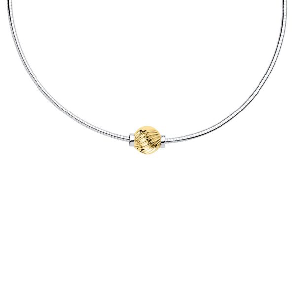 SS Cape Cod 14k Swirl Necklace Omega